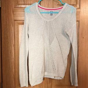 Converse small cream sweater.